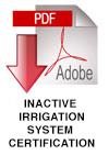 Inactive Irragation